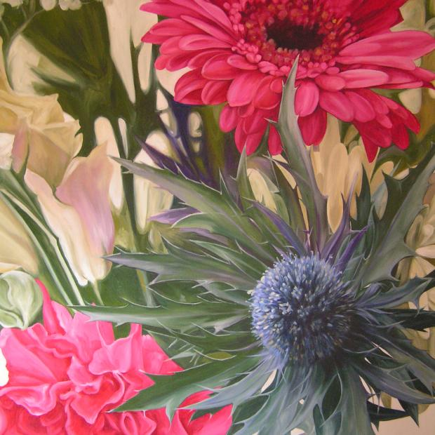 Sea Holly and Gerbera